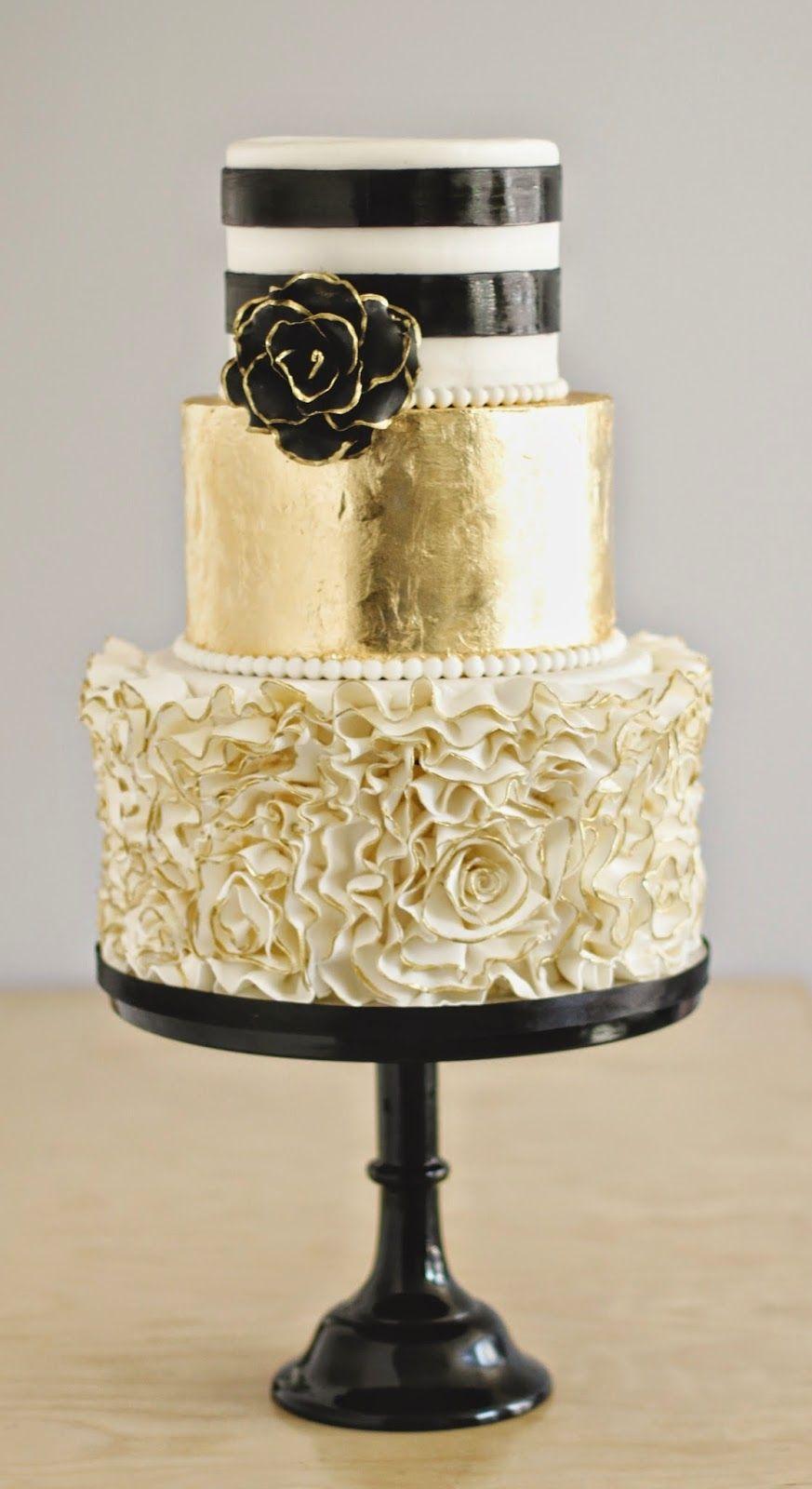 Black, white & gold accents. | I do | Pinterest | Gold weddings ...