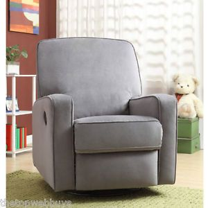 Magnificent Swivel Glider Recliner Chair Grey Nursery Compact Microfiber Gmtry Best Dining Table And Chair Ideas Images Gmtryco