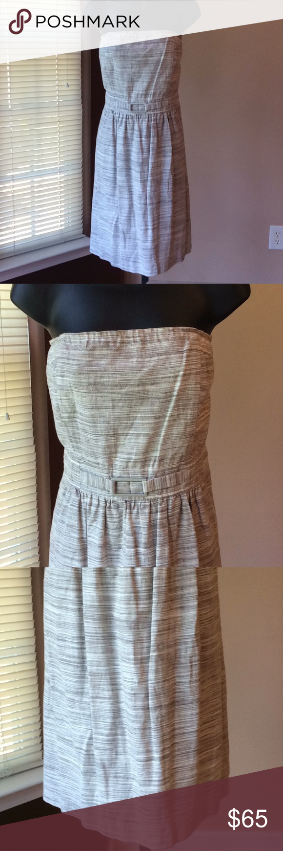7aafff2df82 BANANA REPUBLIC STRAPLESS SUNDRESS Taupe