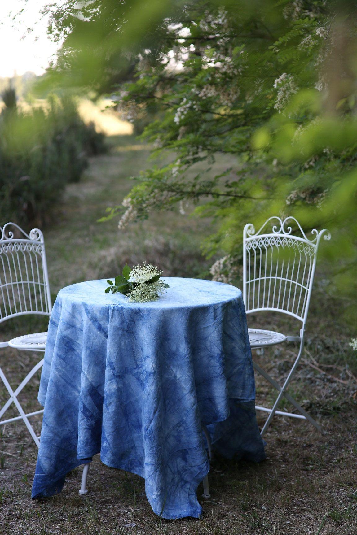Linen Table Cloth Dining Tablecloth Blue Tablecloth Hand Dyed Indigo Farmhouse Tablecloth Burlap Table Cloth Tablecloth Rectangle Blue Tablecloth Farmhouse Tablecloths Hand Dyed Indigo