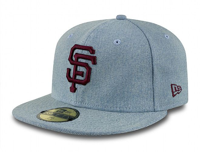 San Francisco Giants Denim Fit 59Fifty Fitted Baseball Cap by NEW ERA x MLB df4a1725593
