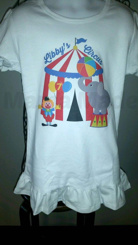 Circus Birthday ShirtGirls Shirt Big Top Party Clown Birthda