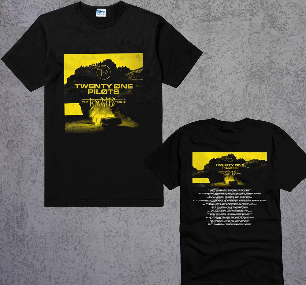 a5bc8eb0a New Twenty One Pilots BANDITO Tour 2018 Black T-Shirt Size S To 2XL  #fashion #clothing #shoes #accessories #mensclothing #shirts #ad (ebay link)