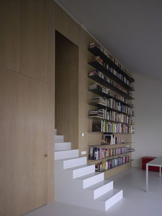 library: modern minimal white design interior house