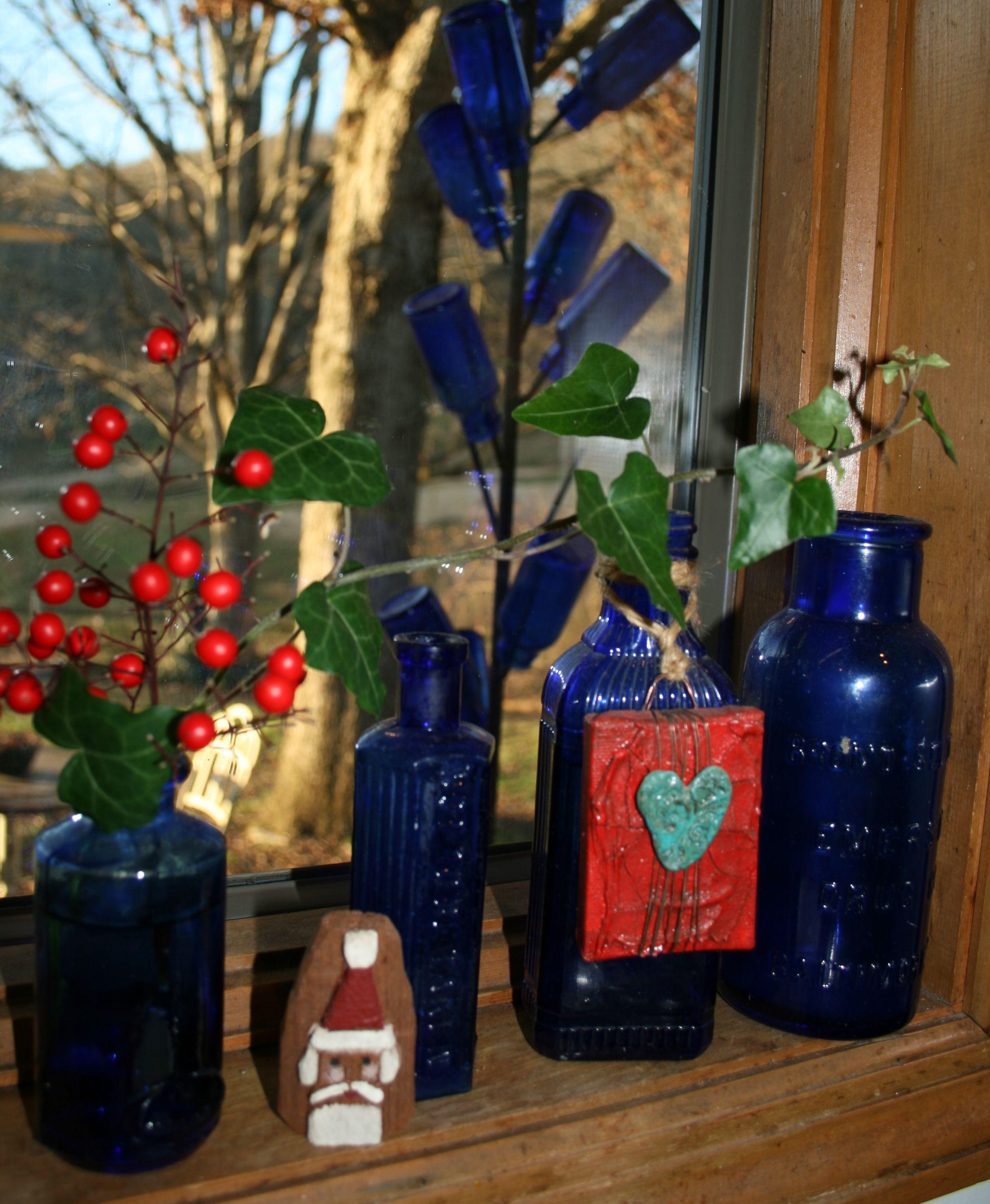Love cobalt blue bottles! I have alot of these!!!