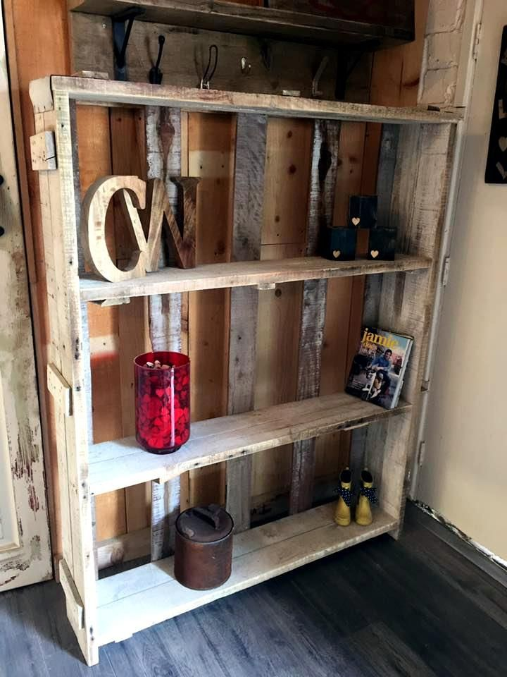 XL size pallet made display shelf unit | Furniture to make