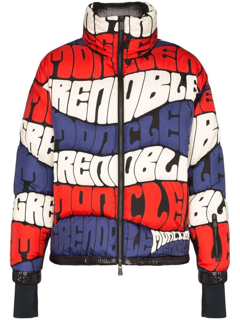 Moncler Grenoble Logo Stripe Puffer Jacket Jackets Moncler Puffer Jackets