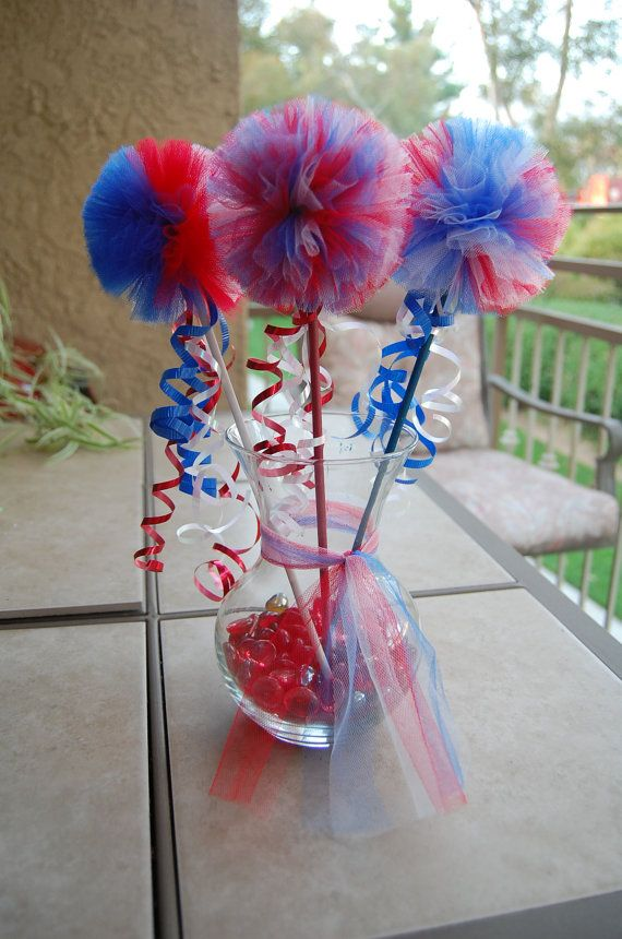 Fourth Of July poofy Wands One size fits all by Babies2Ladies, $10.00