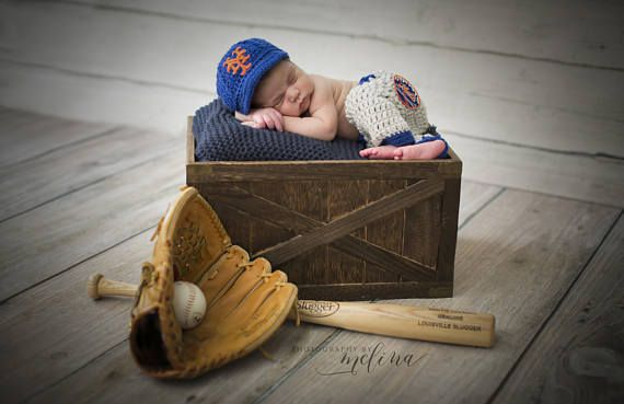 Baby new york mets outfit photo prop etsy goldengirlzhandmade