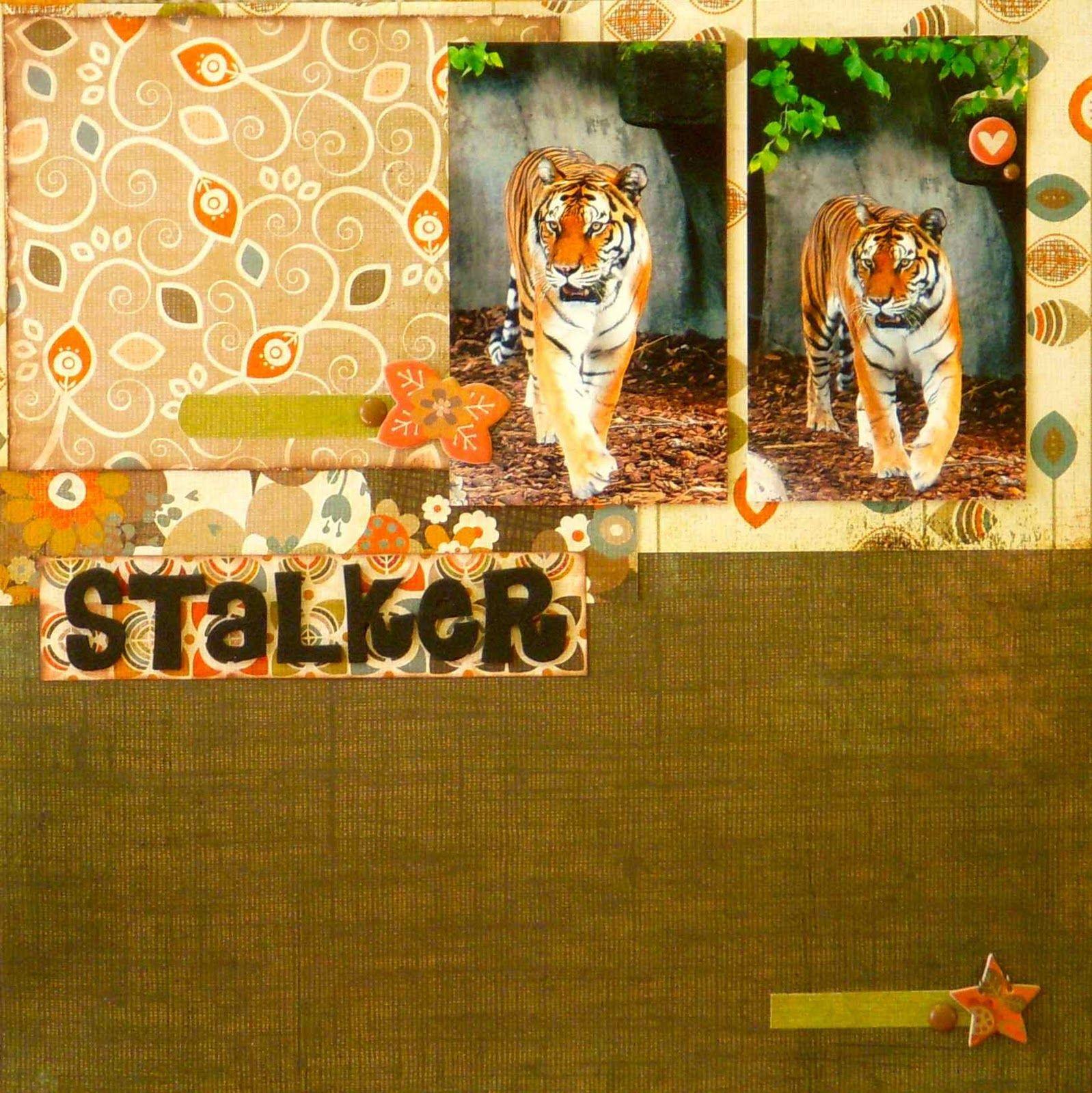 Scrapbook ideas zoo - Stalker Scrapbook Zoo Layout