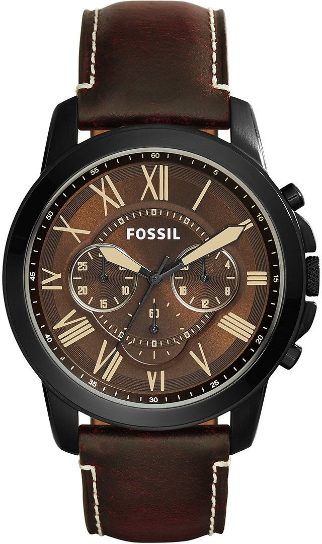 Fossil Men's Grant Chronograph Watch With Brown Leather Band $67.48 (amazon.com)