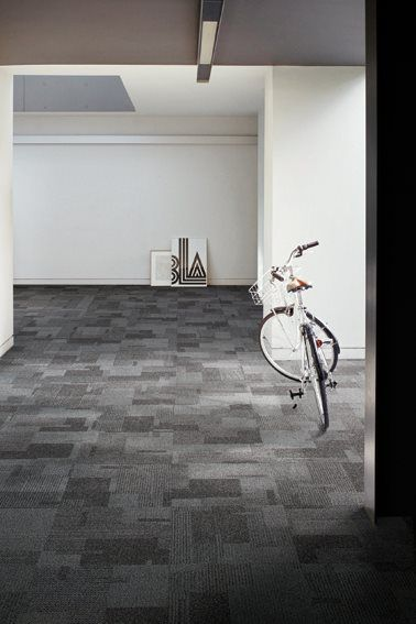Interface Classic Collection Is The Perfect Accent To This Open Space The Different Grey Hues Throughout T Modular Carpet Carpet Tiles Commercial Carpet Tiles