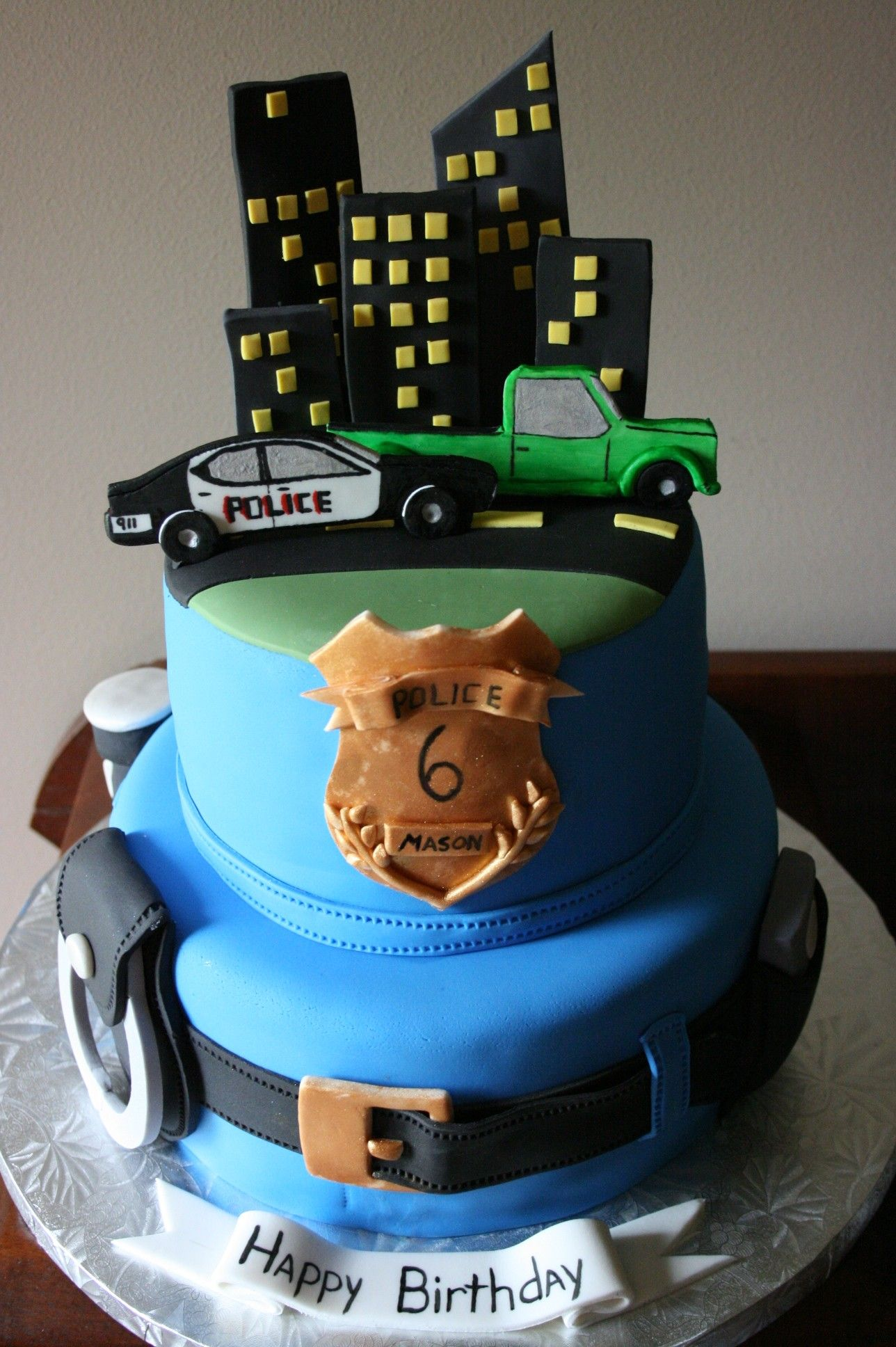 Fantastic Police Officer Cake With Images Police Birthday Cakes Funny Birthday Cards Online Alyptdamsfinfo