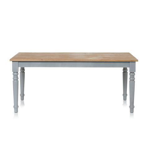 Esstisch, Lattenoptik, gedrechselte Beine, Country-Style - Schmale Tische Für Küche
