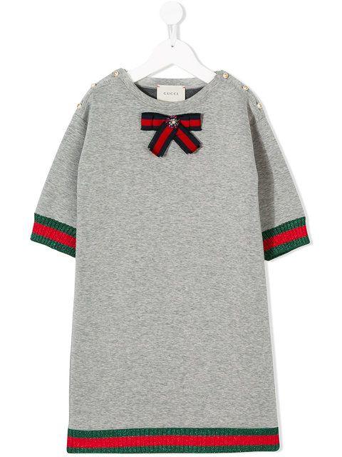 731ae9095 Gucci Kids Web Bow Dress | Mini fashionistas | Gucci kids, Girls ...