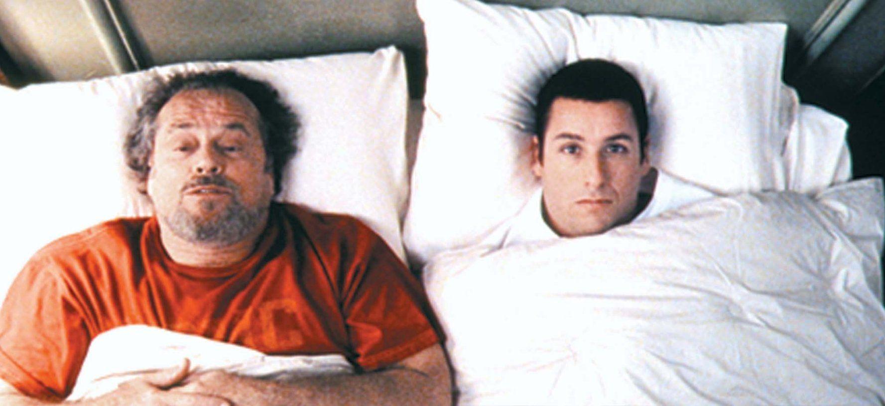 Jack Nicholson And Adam Sandler In Anger Management 2003 Peliculas