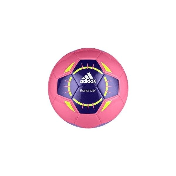 reputable site 4a586 3a1dc adidas Starlancer IV Soccer Ball Pink Purple ( 15) ❤ liked on Polyvore  featuring sports