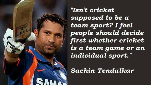 Life Is Like Cricket Quotes: #Cricket #missusachin