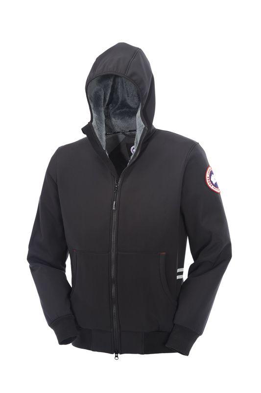 Canada Goose Men Black Tremblant Full Zip Hoody Jackets CAD280.67  www.downjacketche.