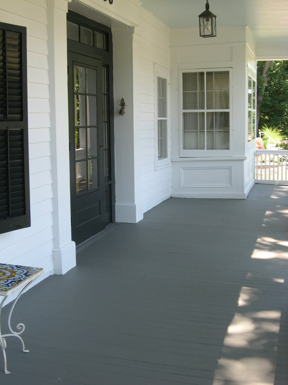 Pictures of decks painted gray that old house fading for Front entry decks