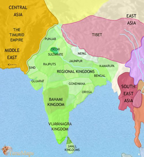 History map of india and south asia 1453ad india pinterest history map of india and south asia 1453ad gumiabroncs Gallery