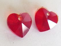Pendente Crystal HEART RED