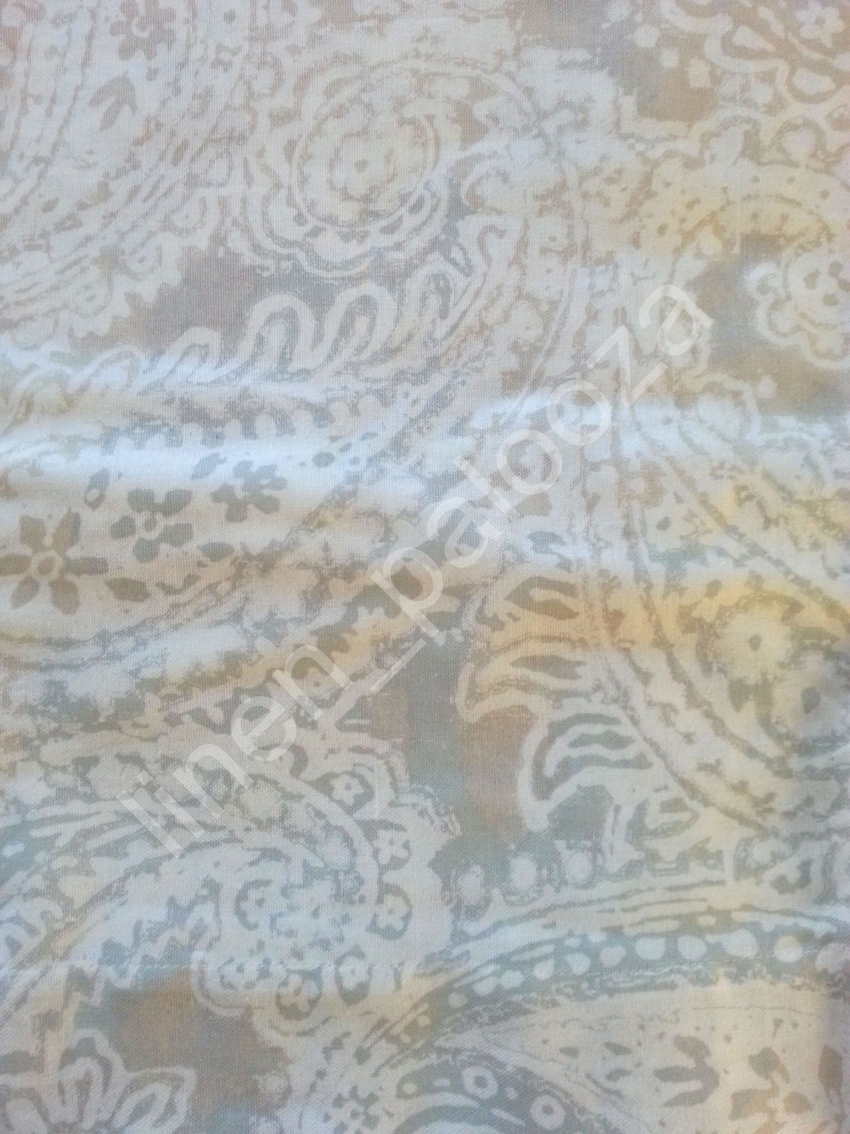 Tommy Hilfiger Mission Paisley Beige Gray Window Curtain Panels 50x96 Pair