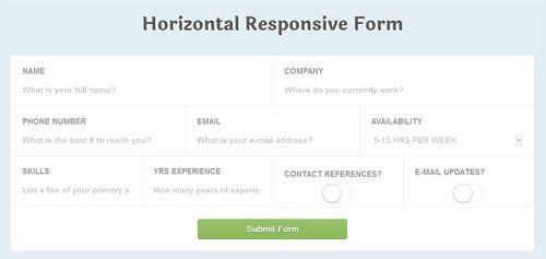 Customer Registration Form Sample Responsive Forms  Form Design  Pinterest  Registration Form .