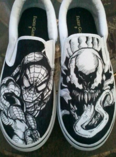 92d3058761f44a Spiderman vs. Venom Shoes  amazing