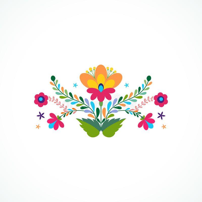 Mexico Flowers Ornament Vector Illustration Beautiful Invitation Design Flyer Sponsored Ad Ad Mexican Flowers Flower Embroidery Designs Mexican Colors