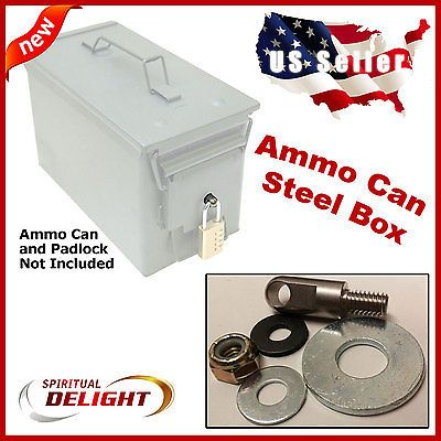 Locking Hardware Ammo Can Steel Box Case Ammunition Container Fits 30 Cal 50 Cal Ammo Cans Ammo Box Ammo