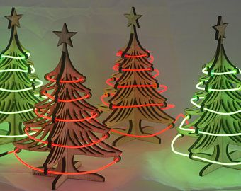 light up your holidays with our cool neon with our small table top christmas tree decoration