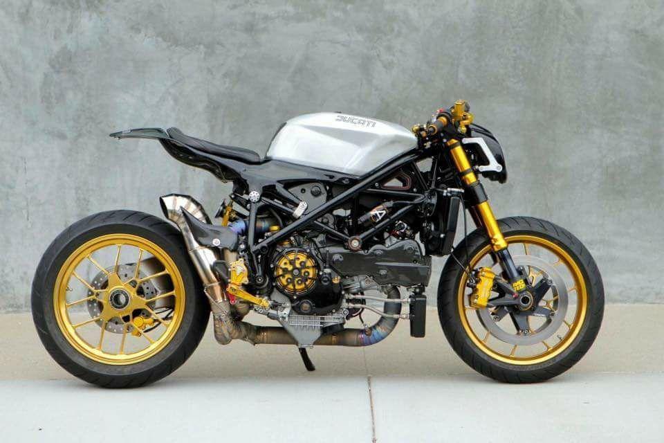 2009 ducati 1098 cafe racer white gold | motos | pinterest | gold