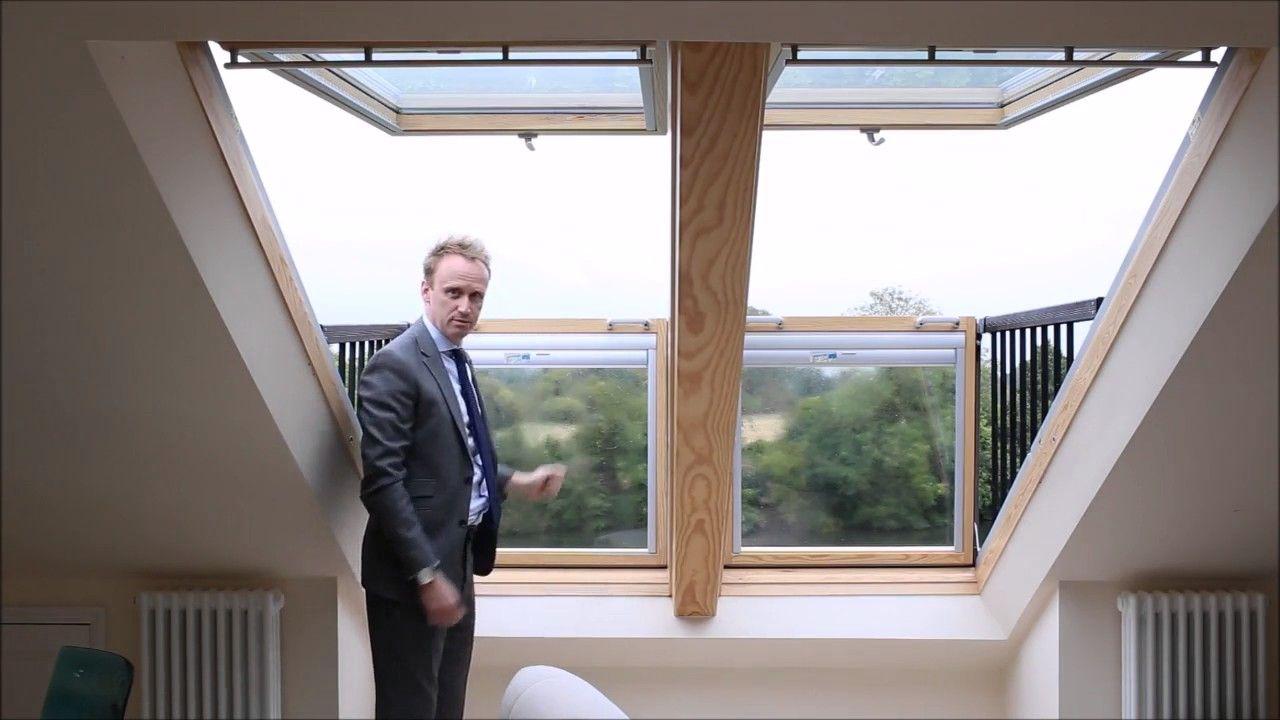 Velux Cabrio Balcony Windows Youtube Roof Window Skylight Cottage Renovation