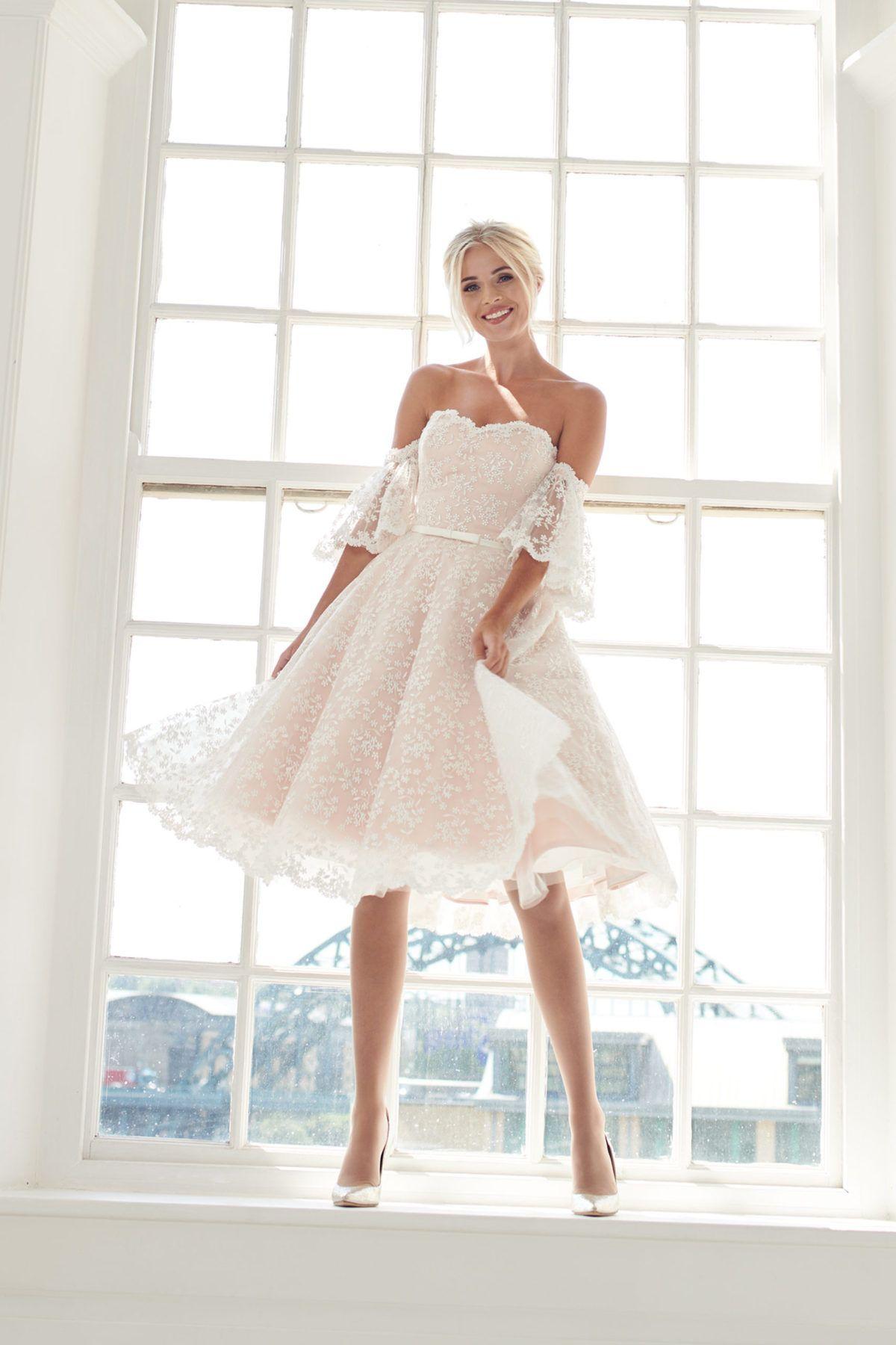 42++ Pink lace wedding dresses short information