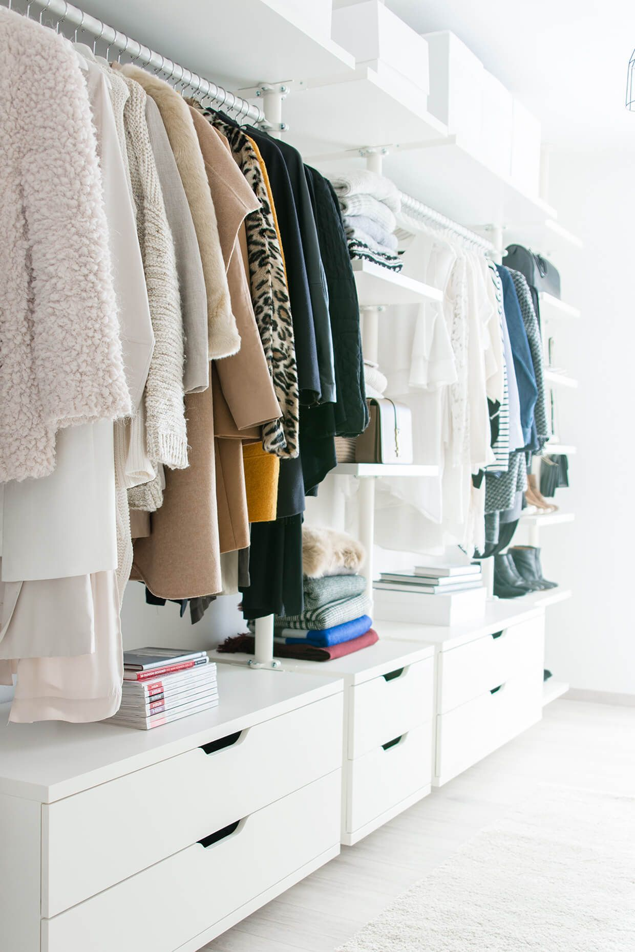 Walk In Closet Dressing Room Ikea Stolmen Ankleidezimmer Ysl Saint Lau Monogram Université Zara Louis Vuitton