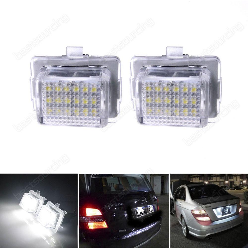 Canbus Led License Number Plate Light Lamp For Mercedesbenz W204 W221 W212 W216 Ca139 Number Plate Lamp Light Car Lights