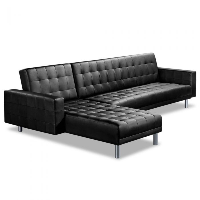 PU Leather Sofa Bed 5 Seater Sofas Pinterest Leather sofa bed