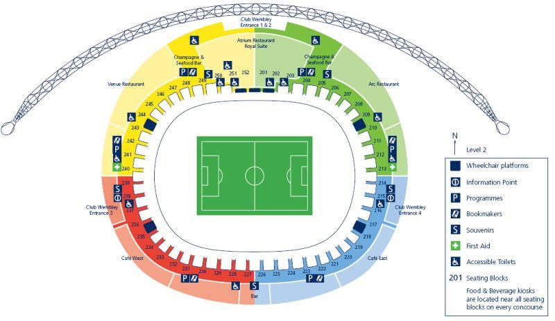 Wembley Stadium Floor Plan   Wembley Stadium Plans Wembley London World Stadium Plans