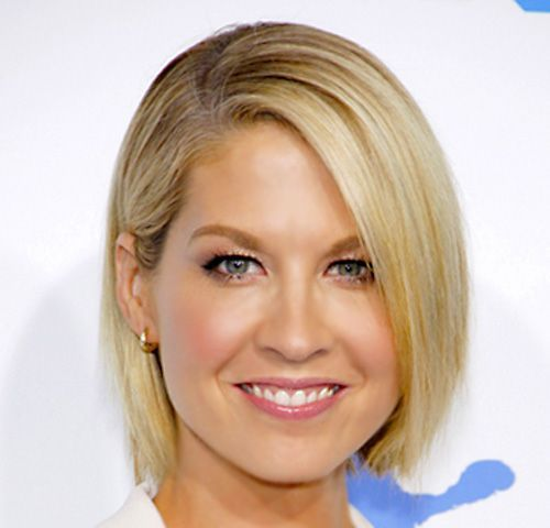 Jenna Elfmans Blonde Hair In Straight ChinLength Bob Hairstyle