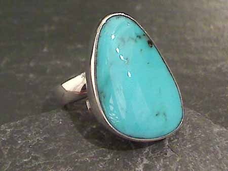 Adj. Size Turquoise, Sterling Silver Ring