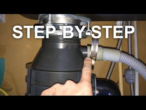 How To Fix A Garbage Disposal Leaking Garbage Disposal Youtube Garbage Disposal Fix Garbage Disposal Kitchen Cleaning Hacks