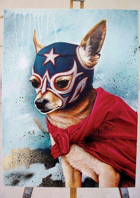Luchadores Unidos Dibujo de perro