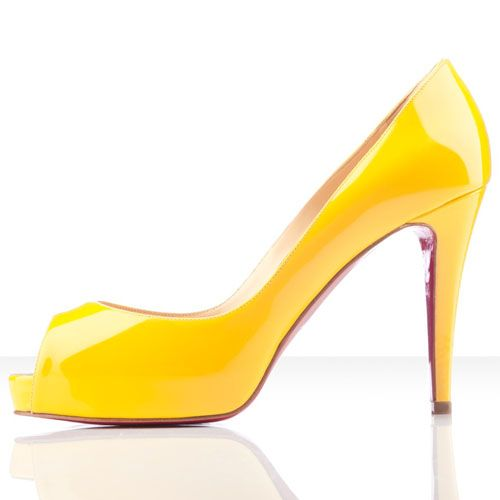 faf82e7bff7b Christian Louboutin Very Prive 100mm Peep Toe Pumps Yellow1 on the lookout  for limited offer