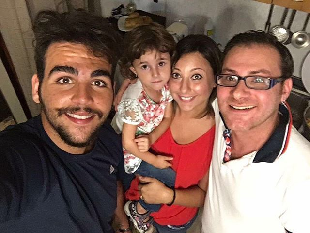 Ignazio with his Goddaughter and friends