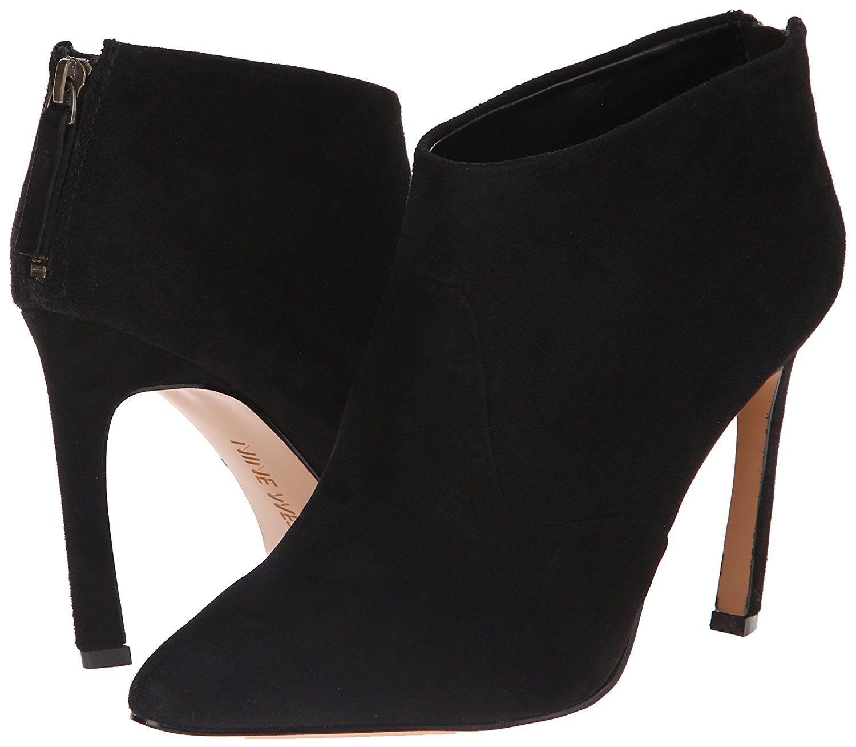 Amazon.com | Nine West Women's Swarm Suede Boot, Black, 9.5 M US