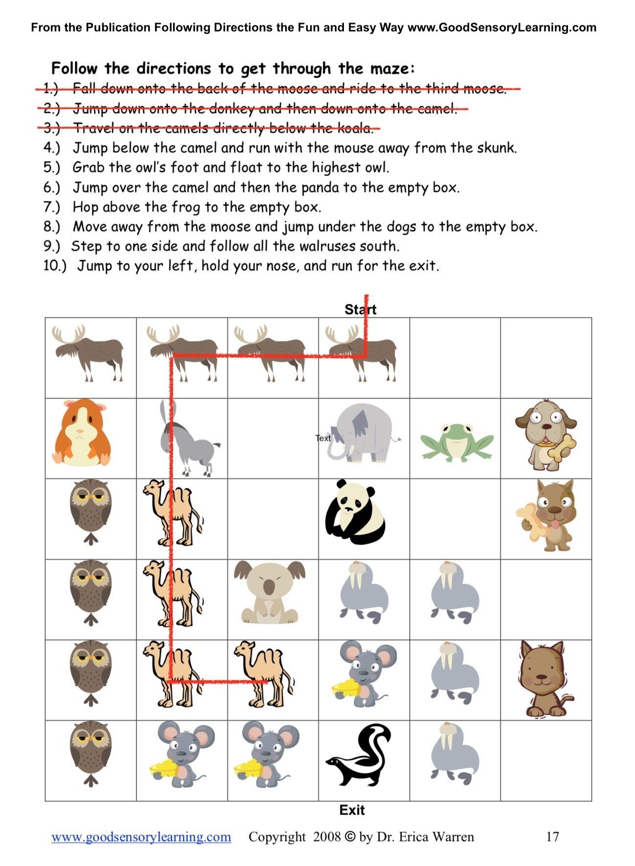Following Directions Activities Bundle In With