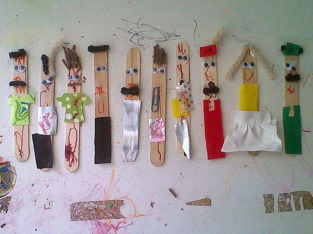 Popsicle Stick People Craft Stick Crafts Popsicle Stick Crafts