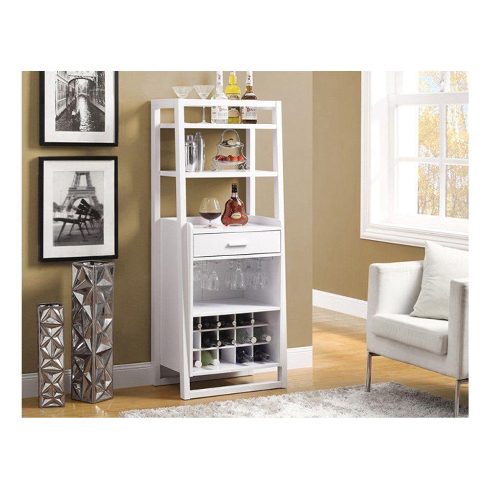 Monarch Ladder Style Bar Unit 60 Inch White Kitchen Dining