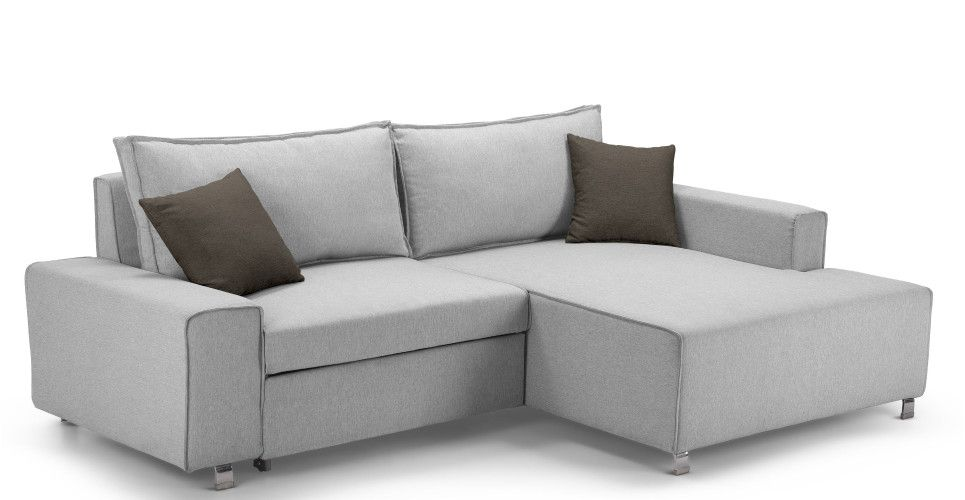 Mayne Right Hand Facing Corner Sofa Bed Clear Grey Stone Made Com Corner Sofa Bed Corner Sofa Sofa Bed Sale